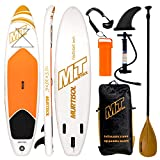 Murtisol 10'5'' Inflatable Stand Up Paddle Board(30in width), Ultra-thick Durable PVC, Non-Slip Deck, Premium SUP Accessories, Dual-Action Pump, Safety Ankle Strap, Adjustable Paddle, Orange