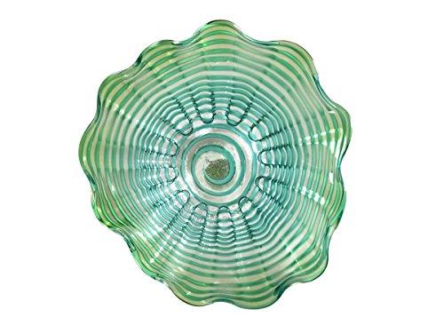 Dale Tiffany Waterfront Hand Blown Glass Art Decor-12 Inch, Green ()
