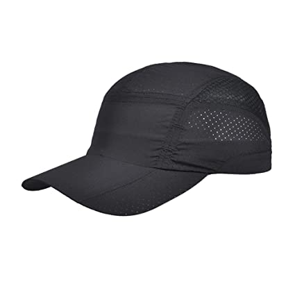 0f4de14d2fc KiKi Monkey Sports Caps Super Lightweight Golf Hat Mesh Fitted Cap  Breathable and Sweat Absorption for
