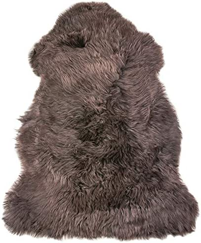 Natural 100 New Zealand Sheepskin Single, Chocolate, 36 L x 24 W