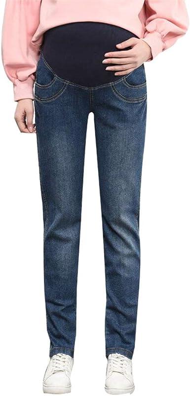 Jeans Grossesse Grande Taille Pantalon de Maternité Jeans