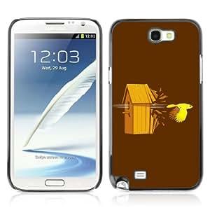 Designer Depo Hard Protection Case for Samsung Galaxy Note 2 N7100 / Bird