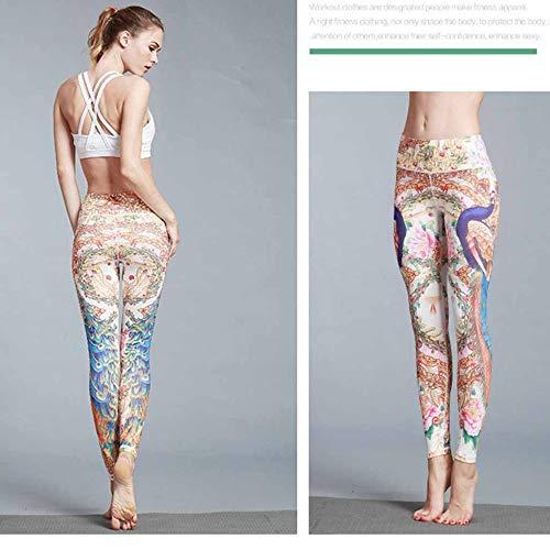 Digitali Yoga Che Zcxcc Si L'imbottitura Abbottonano Pantaloncini Per Signore Sportivi Dell'anca Stampato Activewear Sottile Elastiche Pattern Ghette B All'aperto Indossano Di Le Xn4wa40Wq