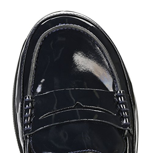Fitflop F-Sporty Tm Penny Loafer, Sandalias con Plataforma para Mujer Supernavy