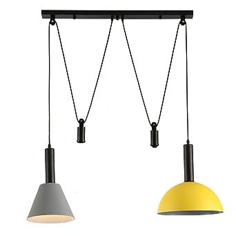 Zkciss Lámpara de techo Lámpara de hierro de metal ajustable ...