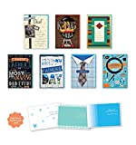 Happy Fathers Day Cards Pack of 7 Different Cute, Cool, and Fun Embellished with Love Boxed Fathers Day Cards