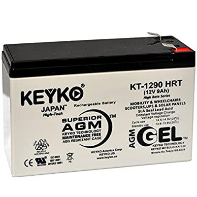 APC RCB124 Cartridge # 124APC SMC1000I-2U BR1300G BR1500G Battery 12V 9Ah Fresh & REAL - Deep Cycle AGM - SLA designed for UPS Rechargeable Replacement Genuine KEYKO Terminal F2 - P