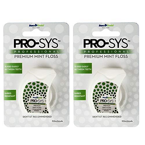 PRO-SYS Premium Mint Dental Floss – 2 Pack of Dental Floss (110 Yards Total)