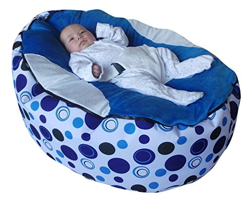 Extra Large Baby Bean Bag with Adjustable Safety Harness & 2 Removeable Covers-UK Seller Mama Baba