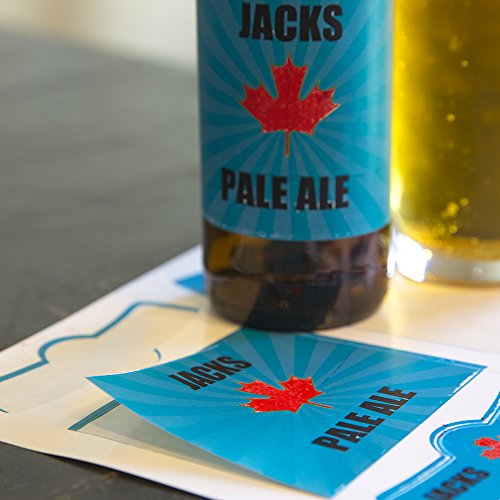 Neato Blank Beer Bottle Labels - 40 pack - Water Resistant, Vinyl, For InkJet Printers by Neato (Image #7)
