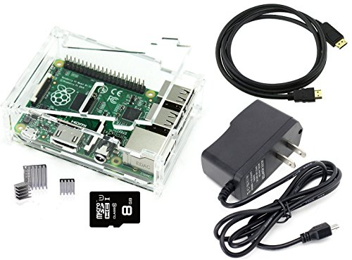 Games&Tech Raspberry Pi 3 Model B Complete Starter Kit with Clear Case, 8GB NOOBS Class 10 Micro SD Card, HDMI Cable, 5V 2A Power Supply, and Heatsinks by Games&Tech