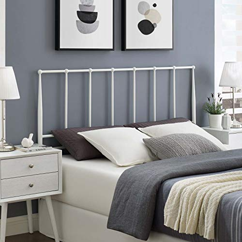 Modway Kiana Stainless Steel Metal Queen Headboard in White