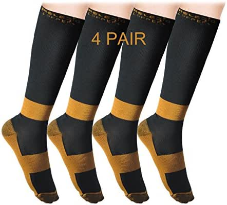 MELERIO Compression Socks for Women&Men (4/7 Pair) Anti-Fatigue and Relieve Pain