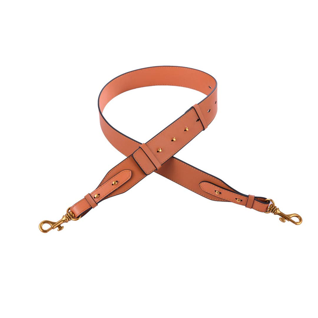 Adjustable 95Cm-110Cm Shoulder Messenger Bag with Accessories Simple Leather Wide Bag Accessories Handle Bag