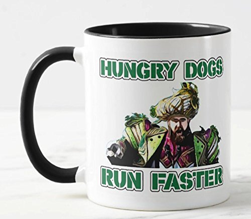 (TRENDZ SHIRTS & DECALS Eagles World Champs Coffee Mug - Hungry Dogs Run Faster)