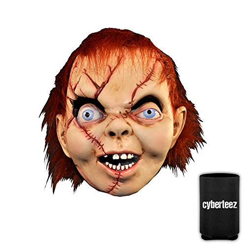 [CHILD'S PLAY Chucky Men's Latex Costume Overhead Mask + Coolie] (Chucky Costumes For Children)