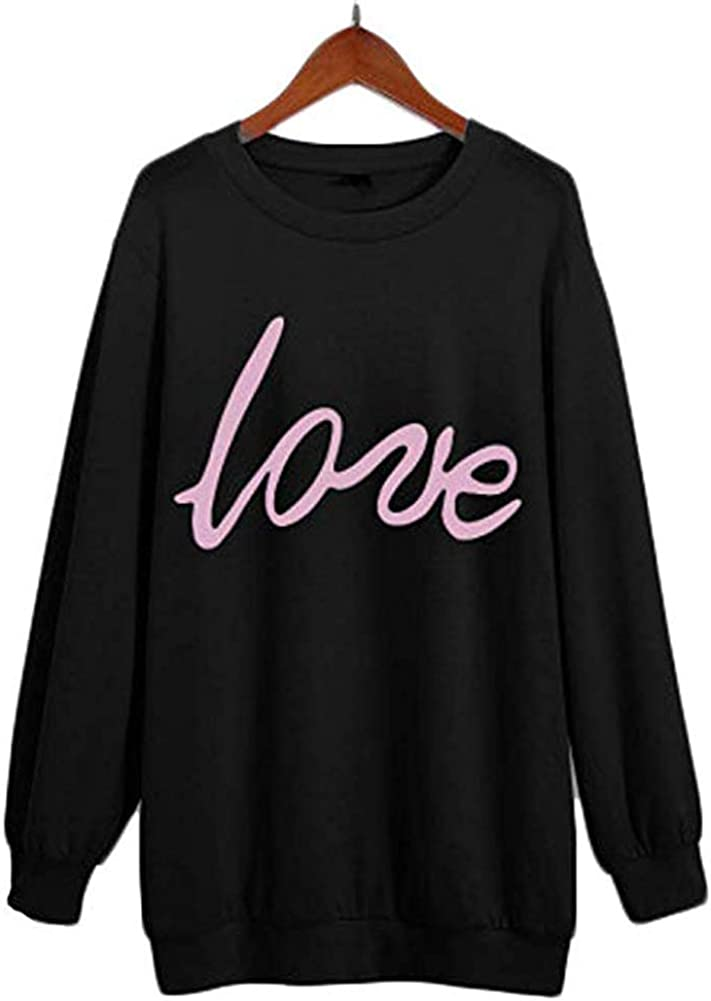 Mutter Daughter Pullover Bluse Love Printed Langarm-Pullover Shirt Frauen und Baby Family Kleidung Mom//Dad Tochter Kleidung