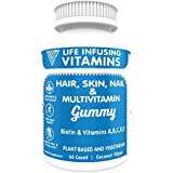 LIV Hair, Skin & Nail GUMMY, Plant Based made from Pectin, Vegetarian, Halal certified, Kosher certified, Coconut Flavor