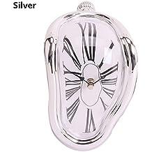 1Pc/Lot Relogio De Parede Vintage Surrealist Retro Distorted Clock Right Angle Wall Clocks Melting Clocks Home Decor YL674766 Silver