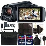 Canon VIXIA HF R800 HD Camcorder (Black) + 48GB Memory Card + Accessory Kit