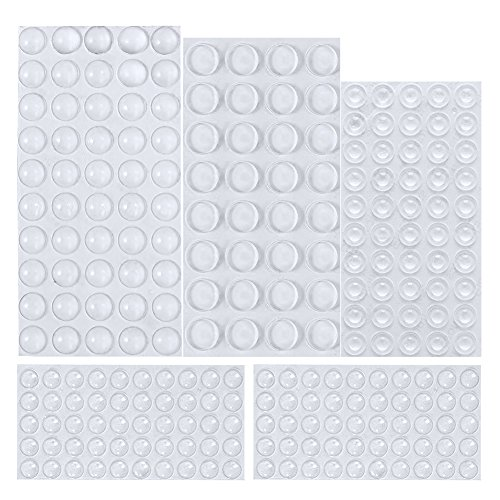 Rubber Feet, 232 Pieces Clear Adhesive Bumper Pads Self Stick Furniture Bumpers Buffer Pads, 4 Shapes for Doors, Cabinets, Drawers by AUSTOR