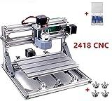 3 Axis DIY Mini 2418 Desktop Small CNC Router Kit Engraver Engraving Milling Pcb Pvc Wood Cutting Carving Laser Machine...