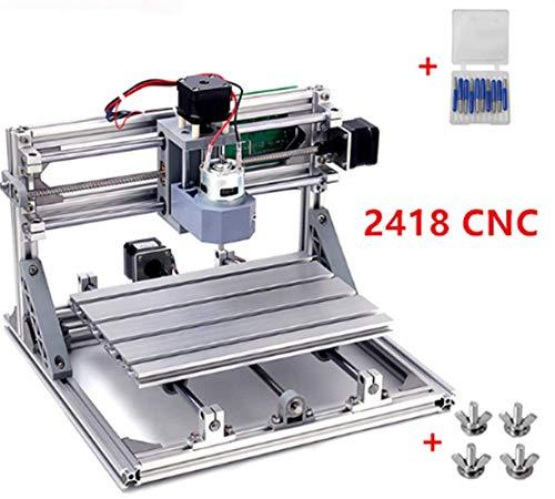 Desktop Small CNC Router Kit Engraver Engraving Milling Pcb Pvc Wood Cutting Carving Laser Machine GRBL Control (24x18x4.0cm) ()