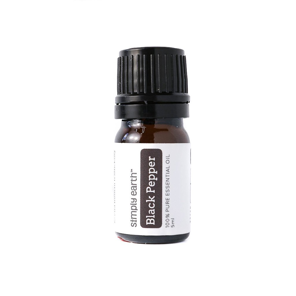 Black Pepper Essential Oil - 5ml, 100% Pure Therapeutic Grade by Simply Earth
