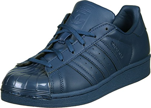 adidas Originals Womens Superstar Glossy Toe Trainers Tech Steel US5.5 Blue jsUWp