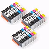 Compatible PGI-270XL CLI-271XL PGI 270 XL CLI 271 XL High Yiled Replacement Ink Cartridge for Printer Pixma MG6820 MG6821 MG6822 MG5720 MG5722 MG5721 TS5020 TS6020 TS8020 TS9020 (18)