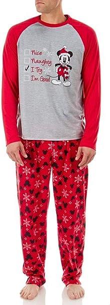 Disney Womens Minnie Mouse Santas Checklist Holiday Family Pajamas