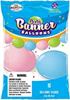 Party Banner Balloons 10 Count Pastel Assortment QuickLink Banner Balloons, 12-Inch
