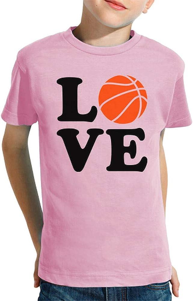 latostadora - Camiseta Amor de Baloncesto para Nino y Nina Rosa XL: Amazon.es: Ropa y accesorios