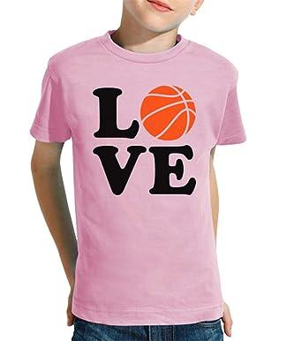 latostadora - Camiseta Amor de Baloncesto para Nino y Nina Rosa L ...