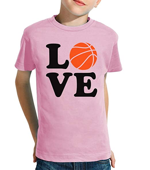latostadora - Camiseta Amor de Baloncesto para Nino y Nina Rosa ...