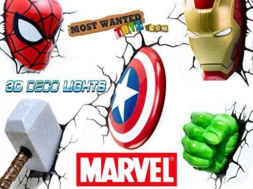 Marvel avengers 3d deco wall night lights thor hulk iron man marvel avengers 3d deco wall night lights thor hulk iron man spider mozeypictures Gallery