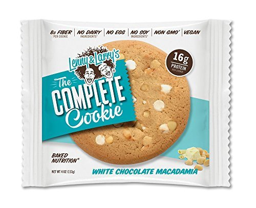 Lenny & Larry's The Complete Cookie, White Chocolate Macadamia, 4-Ounce Cookies (Pack of 12)