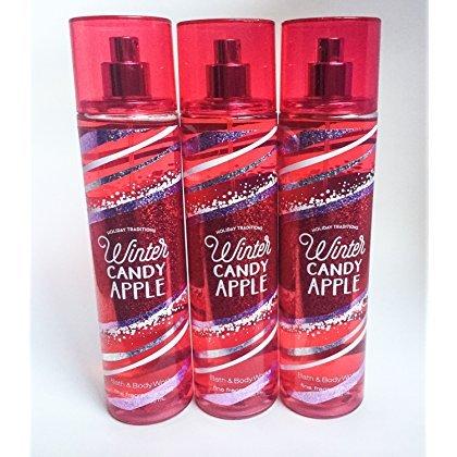 Bath & Body Works Fine Fragrance Mist Winter Candy Apple Lot Of 3