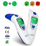 Baby Thermometer Forehead and Ear Termometro Digital Thermometer for Fever Accurate Professional Medical Body Fever Termometro for Infant, Kid and Adult CE and FDA Approved Clinical Thermometer