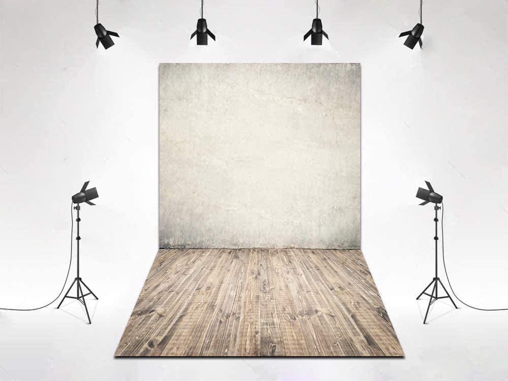 New 5x7ft White Wood Wall and Floor Background Newborn Portrait Shoot Backdrop Cotton Photo Studio Photography Props XT-5109-D-7651