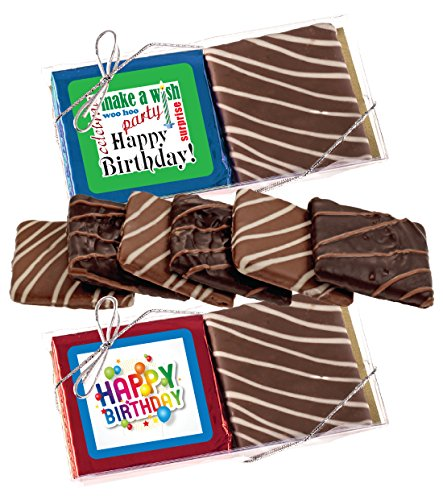 Dipped Chocolate Crackers (HAPPY BIRTHDAY CHOCOLATE GRAHAM CRACKER DUO)
