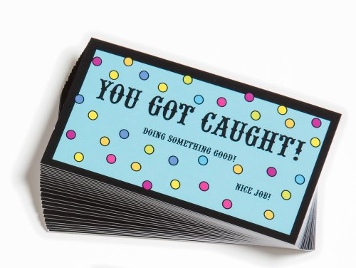 Motivational You Got Caught! Tokens & Cards - Set of 10 Each Recognition Awards by Trainers Warehouse (Image #1)