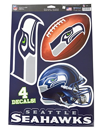 Official National Football League Fan Shop Licensed NFL Shop Multi-use Decals (Seattle Seahawks)
