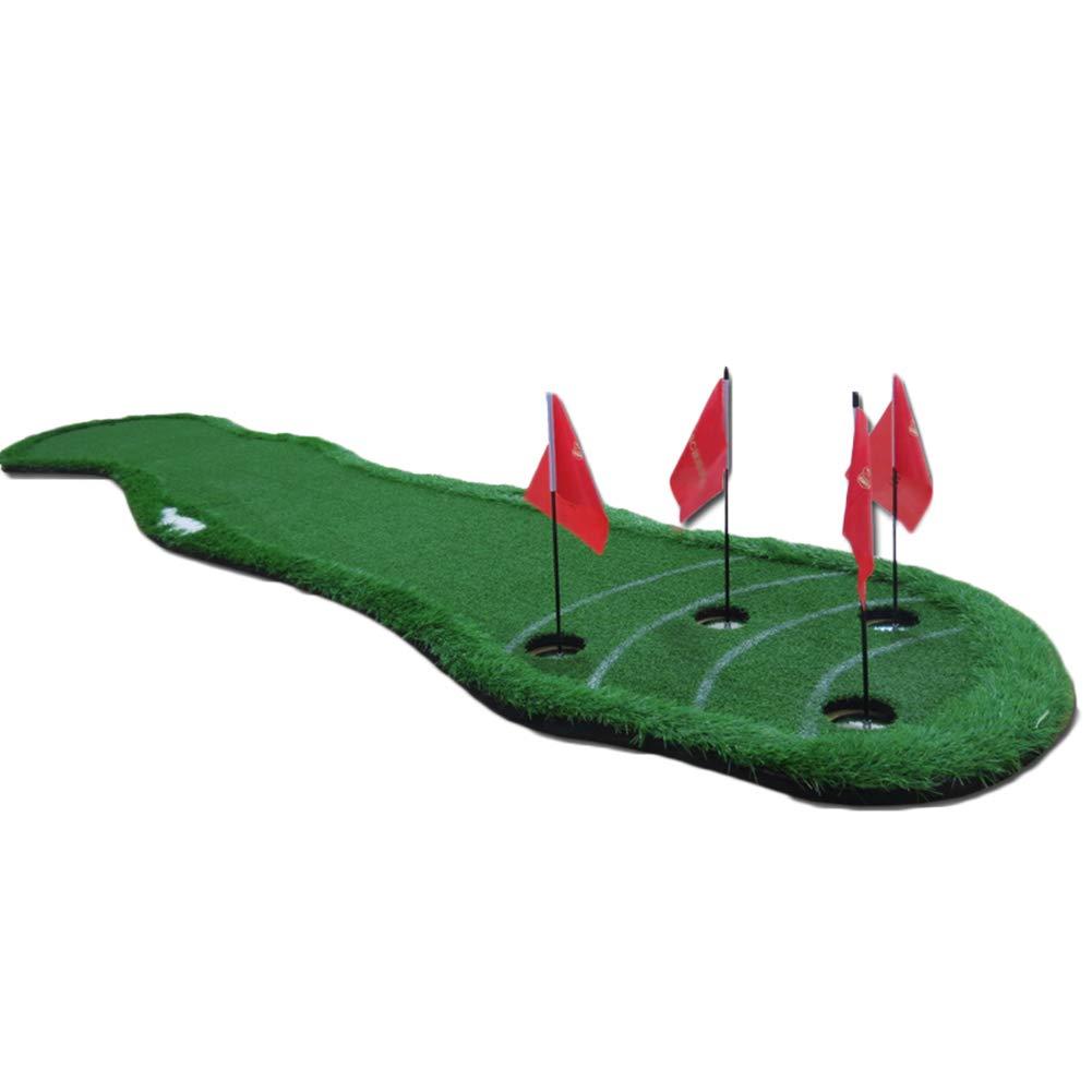 WENZHE ゴルフマット パターマット 練習器具 ネット ウェーブタイプ シミュレーション グリーン ポータブル パット トレーナー インドア アウトドア エクササイズ、 350x70cm 350x70cm
