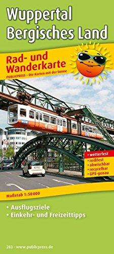 Wuppertal - Bergisches Land: Rad- und Wanderkarte mit Ausflugszielen, Einkehr- & Freizeittipps, wetterfest, reissfest, abwischbar, GPS-genau. 1:50000 (Rad- und Wanderkarte / RuWK)