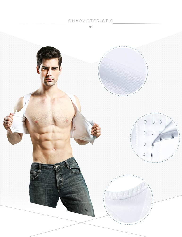 Compressione del Petto Veste Uomini Dimagrante Body Shaper Nascondi la ginecomastia Canotta Slim Fit Shapewear per Uomo