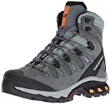 Salomon Women's Quest 4D 3 GTX W Backpacking Boots, Lead/Stormy Weather, 9 B US