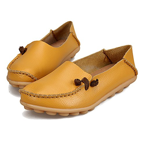 Loafers Slippers Womens Casual Shoes Walking Summer Blivener Yellow Comfort Flat qIf1wx8P