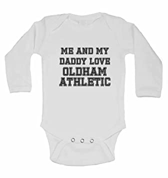 Me and My Daddy Love Oldham Athletic for Football Soccer Fans Baby Vests Present