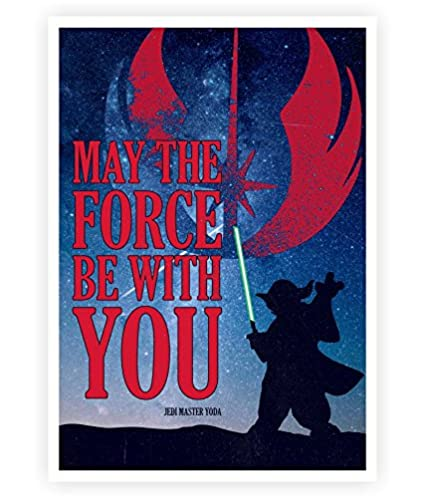 Amazon Lab No 4 Force Be With You Movie Quotes Poster In Size
